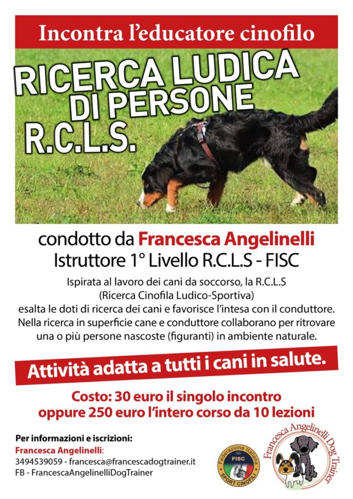 Ricerca Ludica Di Persone Rcls Francesca Dog Trainer